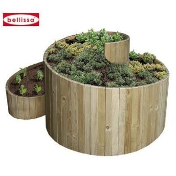 Bellissa Kräuterspirale Holz 120x120x80cm -
