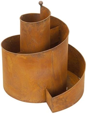 Posiwio dekorative Kräuter-Spirale Kräuter-Spindel Pflanz-Spirale Metall rostig Edelrost - 1