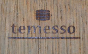 Temesso Holzfass, Kräuterbeet, Pflanzkübel Weinfass Fass halbiert mit Trageschlaufen (echtes Weinfass D70cm H40cm) Original - 2