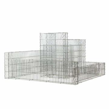bellissa Gabionen-Kräuterspirale CANTONE - 4502 - Steinkorb-Kräuterschnecke eckig - Bausatz aus hochwertigen, frostsicheren Materialien - 120 x 110 x 20/70 cm - 2