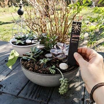 Navaris 10x Schiefer Pflanzstecker M - Gartenstecker Stecketiketten beschreibbar 20 x 3cm für Kräutergarten Beet Blumenkästen Schilder mit Kreide - 8